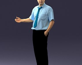Male consultant in a blue shirt 0245 3D printable model