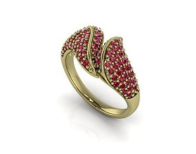 3D print model Pave Gems And Diamonds Ring printable