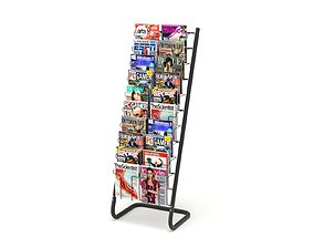 Magazine Rack with Frame Stand - Model 03