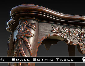 3D model realtime PBR Small Gothic Table