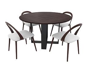 Rialto Dining Chair Beige 3D