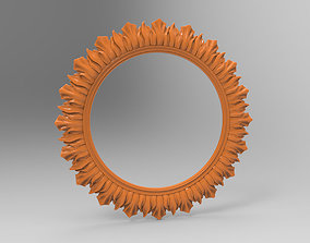 Carved CNC 3D print model of mirror frame architectural