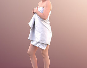 3D 10758 Nadin - Young Woman In Towel Smiling