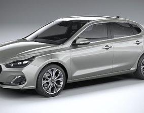 3D model Hyundai i30 fastback 2019
