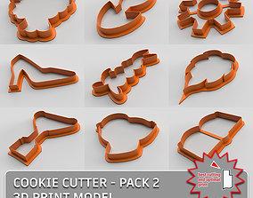 3D model Cookie cutter - pack 2