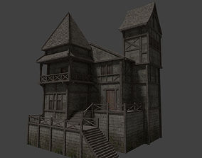 medieval Medieval house 3D model low-poly