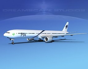 Boeing 777-300 MP Pakistan Airlines 3D model