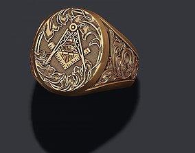 3D printable model Freemason ring