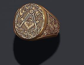 Freemason ring 3D printable model