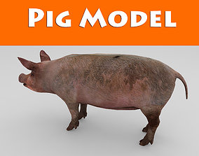 boar realtime Wild Pig low poly 3D model