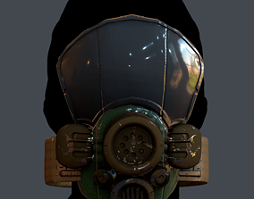 Gas mask helmet 3d model scifi Low-poly Low-poly low-poly