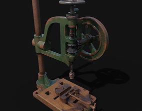 typical mancuna hand- cranked drill 3D asset