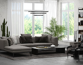 Interior Scene 01 - Living Room for 3ds Max and V-Ray 1