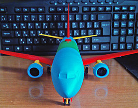 Boeing 737-800 Sharklet Landing gear down 3D print model