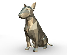 3D printable model bull terrier low poly