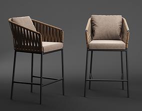 3D armchair Kettal Bitta Barstool