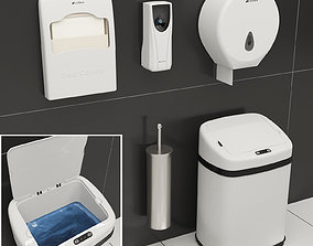 Set for a washroom of Ksitex Cabin Decor 3D model