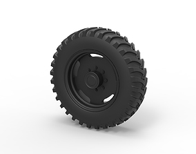 3D printable model Diecast Tractor wheel
