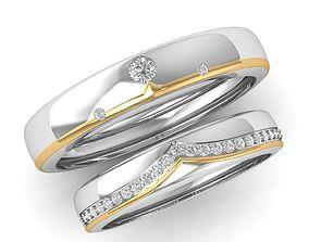 170 Diamond Wedding Ring 3D printable model