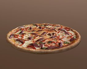Food Pack of Pizza 3D asset VR / AR ready