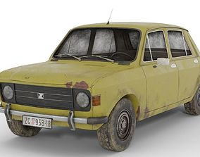 3D Zastava 101 Rusty Old Car