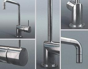 Water tap with fingerprints 3D model