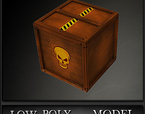 Box Low Poly 3D asset