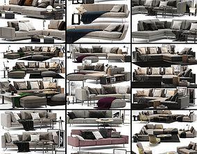 velvet Sofa Colection 01 - 10 Items 3D