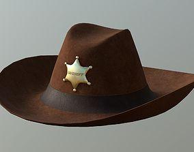 3D model Sheriff Hat