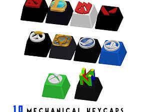 10 Keycaps for mechanical Keyboard - 3D printable model 1