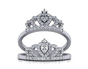 Crown ring design 3d print model 0216
