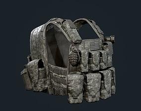 Military Gear Equipment Vest Game Ready 3D asset