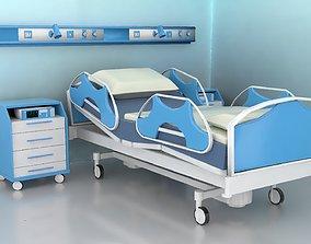 3D interior Hospital Room