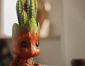 Baby Groot Flower Pot and Pen Holder 3D printable model