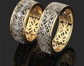 2 wedding rings 001 3D printable model
