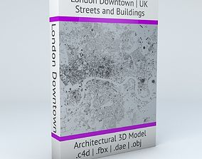 London Downtown Streets and Buildings 3D