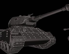 3D printable model T 34 Tanks 75 mm KwK 40 L48