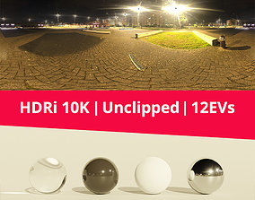 HDRi Night light and buildings 3D