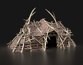 3D model Orc Orcish Primal Tent Simple House Hut Lair 2