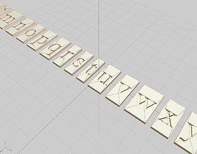 3D print model Free Serif Block Typeset Font