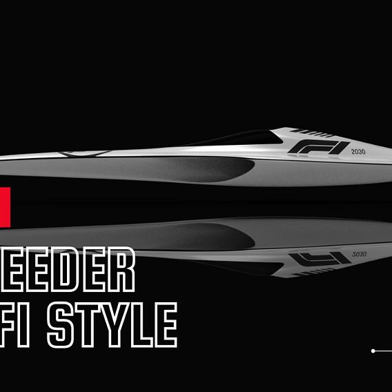 F1 speeder sci-fi style Low-poly 3D model