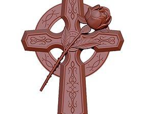 gothic emblem Cross 3D printable model