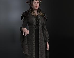 3D asset rigged Queen