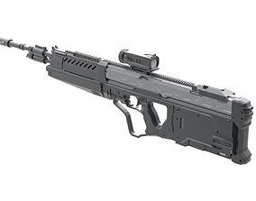 Mock up of Halo M395B DMR rifle 3D print model