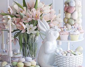 Easter set spring 3D model
