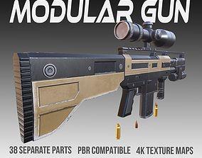 Modular Gun PBR Vol 5 3D model low-poly