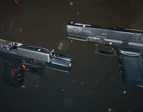 3D asset game-ready Glock 18C
