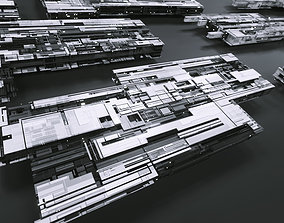 3D model Tech Greebles set 2