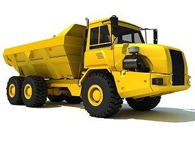 Yellow Dump Truck 3D model