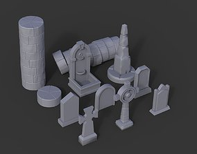 3D printable model Stone Pack - Props Wargaming